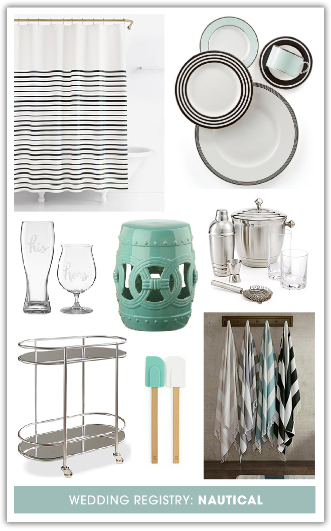 Awesome nautical gift ideas for your Macy's wedding registry!