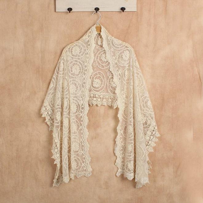 Lace wedding shawl by Scraffs