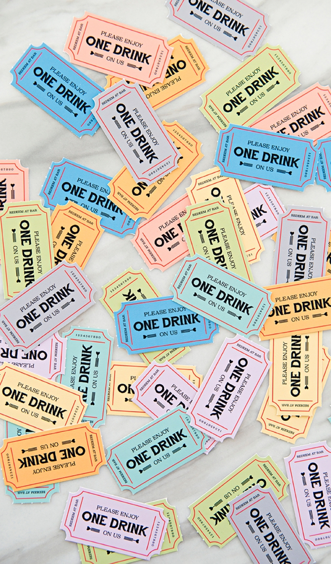 These free printable wedding drink tickets are the cutest!