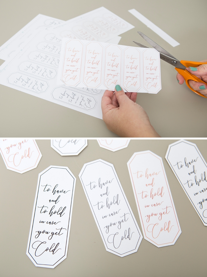 These free printable to have and to hold in case you get cold tags are the cutest!