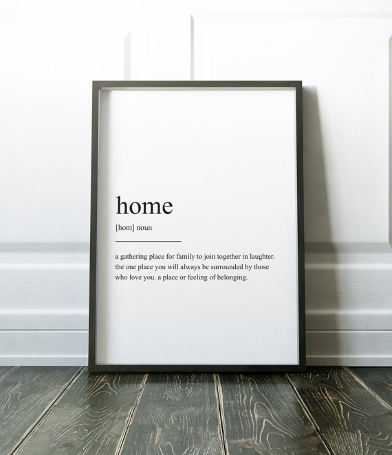 Don't miss this minimalist and cute home definition print!