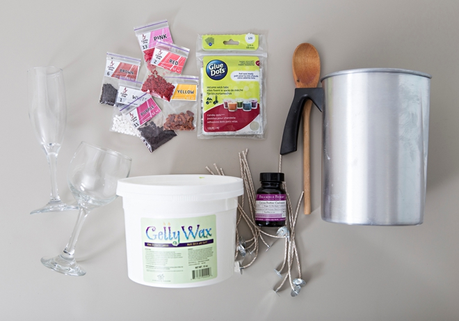 Learn how to make your own gelly wine candles!