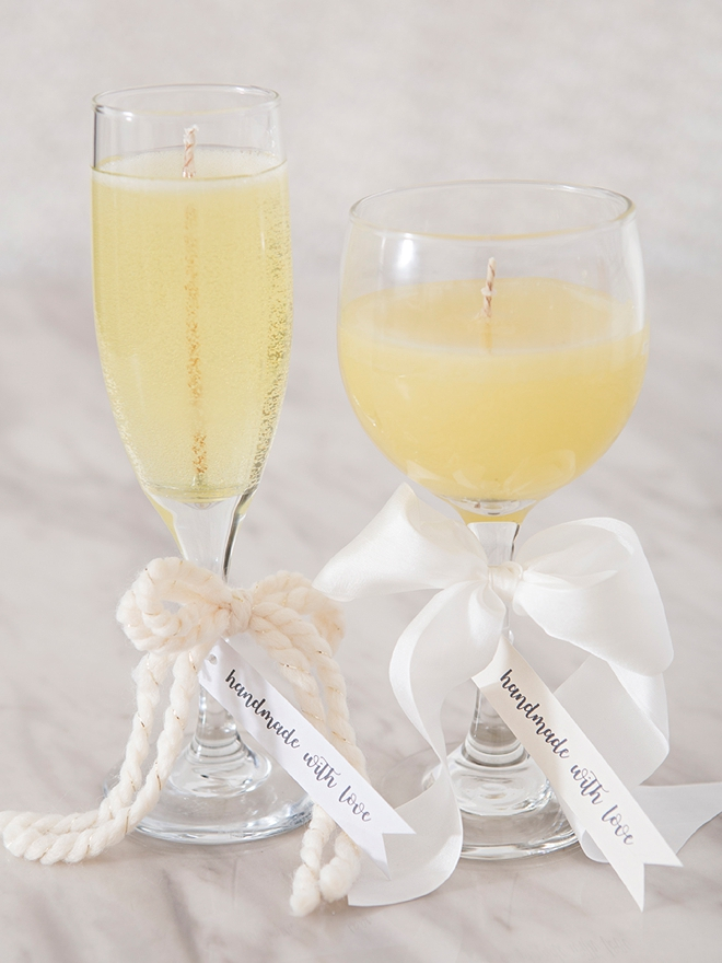 Woah, these DIY wine and champagne candles are AMAZING!