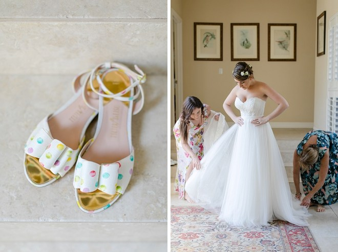 These super fun polkadot wedding shoes are giving us all of the feels!