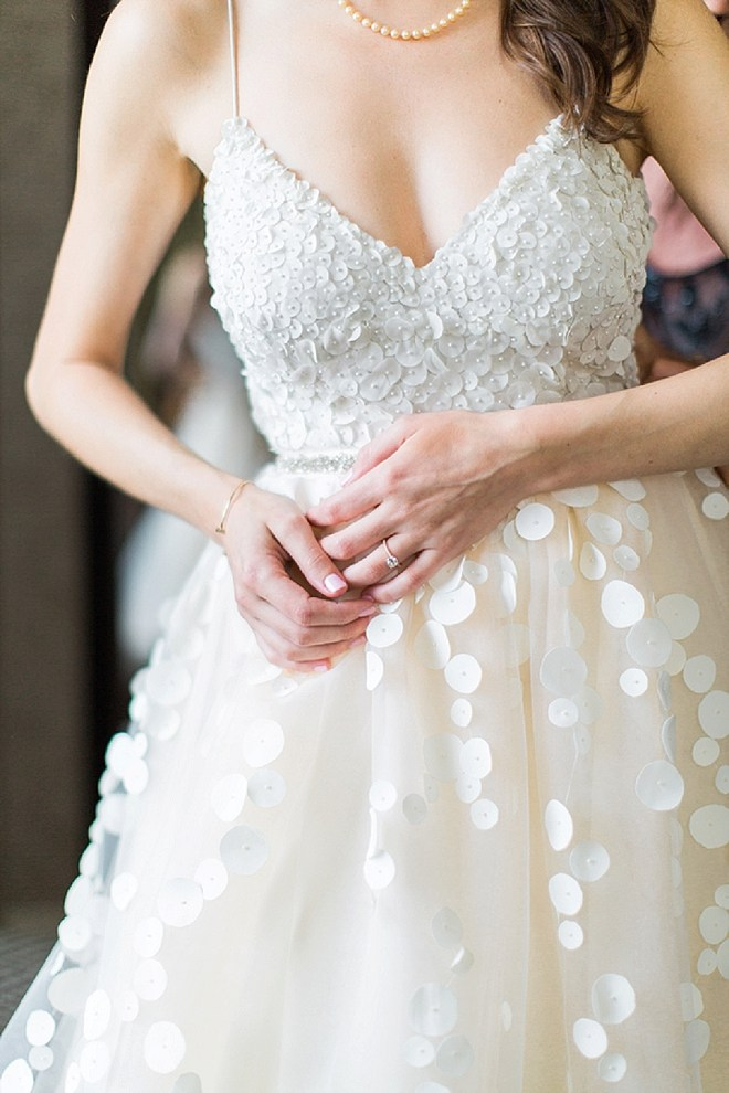 We LOVE this stunning two piece dress that this Bride made herself!!