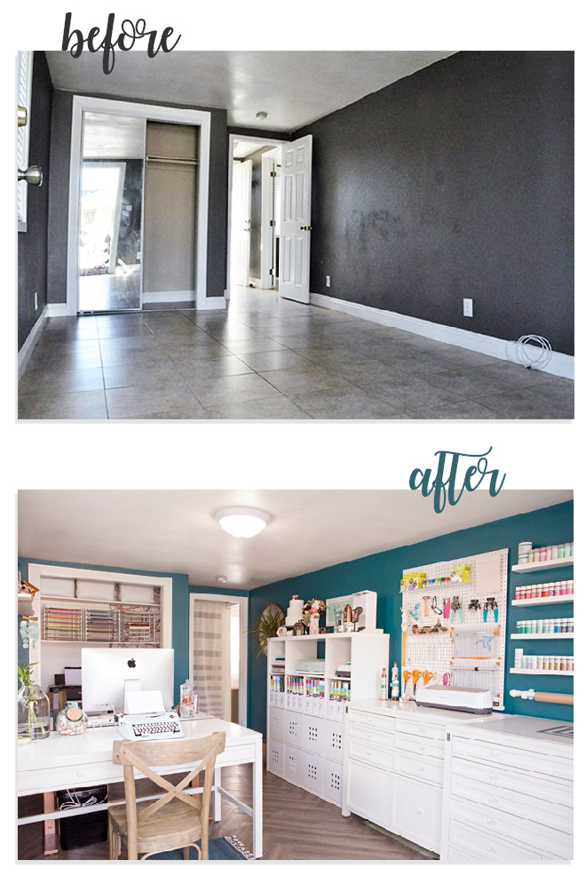 WOW, this before and after Craft Room change is amazing!