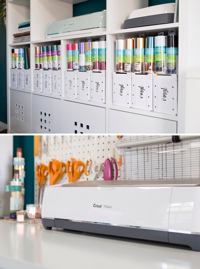 This display of the Cricut and supplies is amazing!