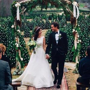 Stunning Christmas Tree Farm Wedding