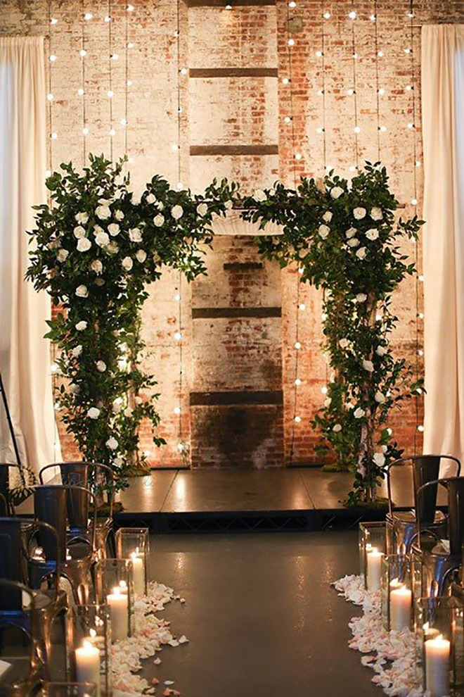 Twinkle lights are the absolute perfect way to add holiday spirit to your wedding!