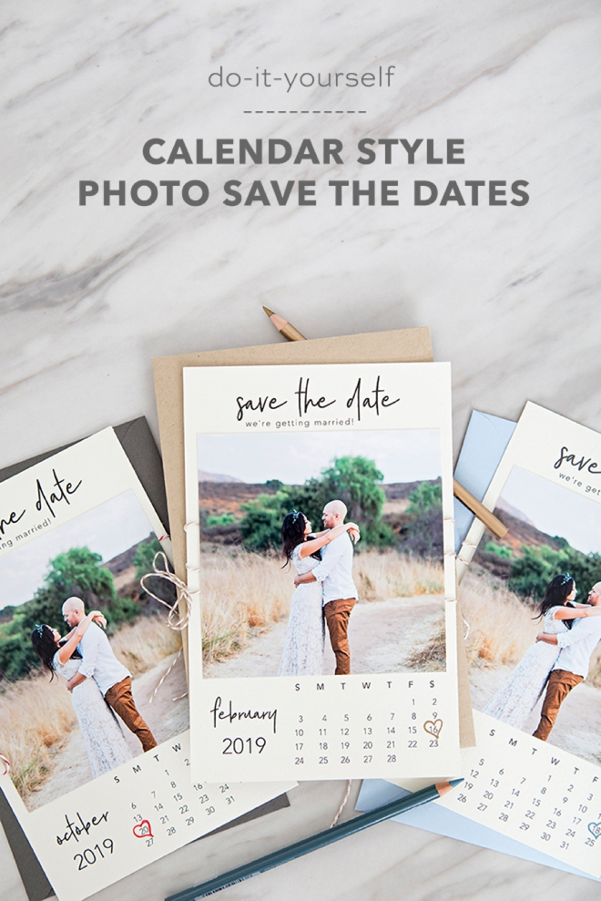 Diy Calendar Save The Date : These free printable quot calendar style photo save the dates