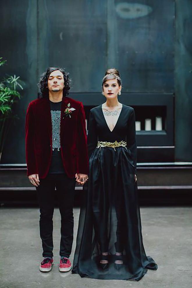 Are you bold enough to rock a black wedding dress?