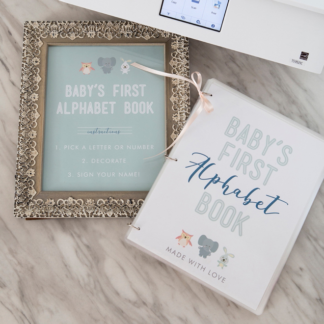 this free printable baby