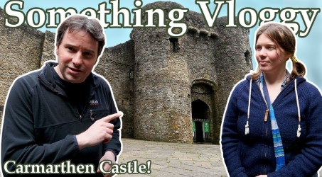 CARMARTHEN CASTLE! Part Two of our Mini Castle Road Trip!
