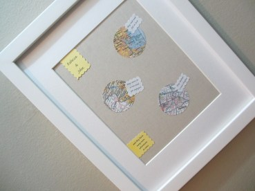 The final result. (Framing A Love Story - A wedding shower gift by somethingwewhippedup.com)