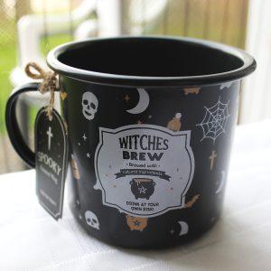 Witches Brew enamel mug