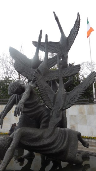 The Children of Lir in the Garden of Remembrance