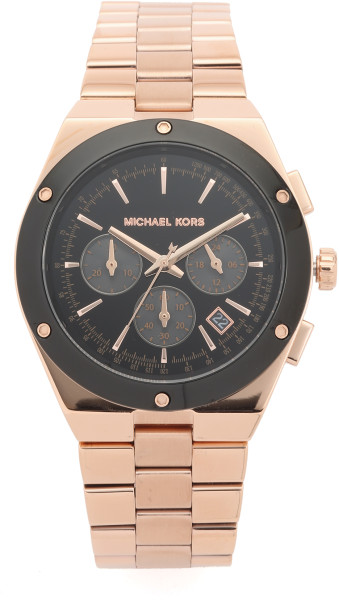 8. michael-kors-rose-goldblack-reagan-watch-rose