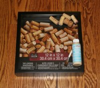 Wine Cork Holder Shadow Box - Sometimes Homemade