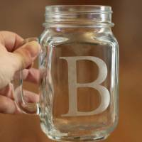 DIY Etched Mason Jar Glasses