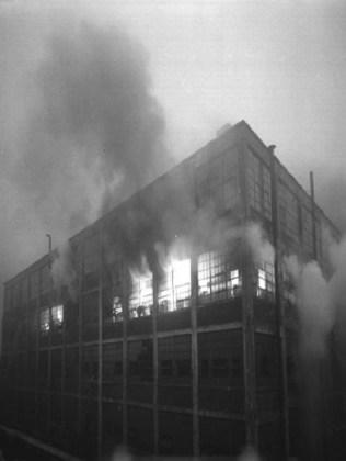 Packard factory fire