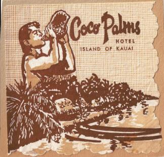 Coco Palms napkin