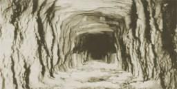 SPRR tunnel interior dig progress circa 1884