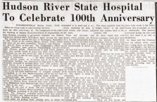 Hudson River State Hospital to celebrate 100th anniversary