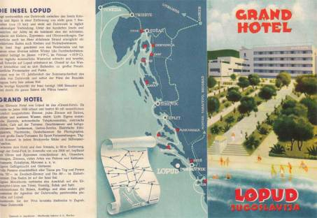 A 1937 promotional brochure for the Grand Hotel on Lopud Island, Yugoslavia.