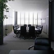 Looking from former Bugatti Automobili CEO Romano Artioli's office into the adjacent conference room, circa 1993.