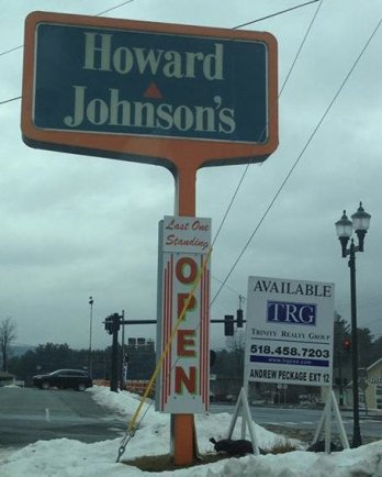 A new real estate sign appeared next to the Lake George location's sign in late 2016