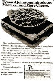 An advertisement for Howard Johnson's frozen entrees, circa 1968