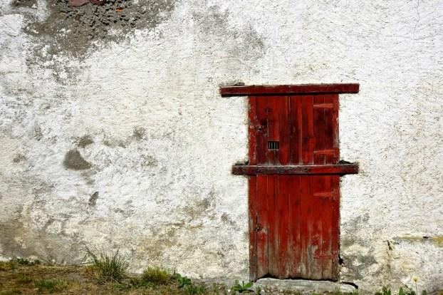 Red Door, White Wall