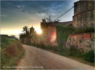 Sunrise outside Irache, July 2014 Camino Francés