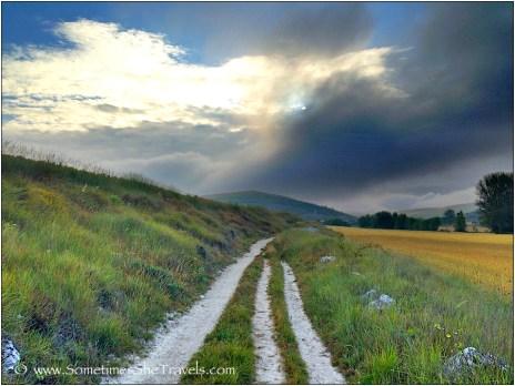 Trail between Hontanas and Castrojeriz, 2014 Camino Francés