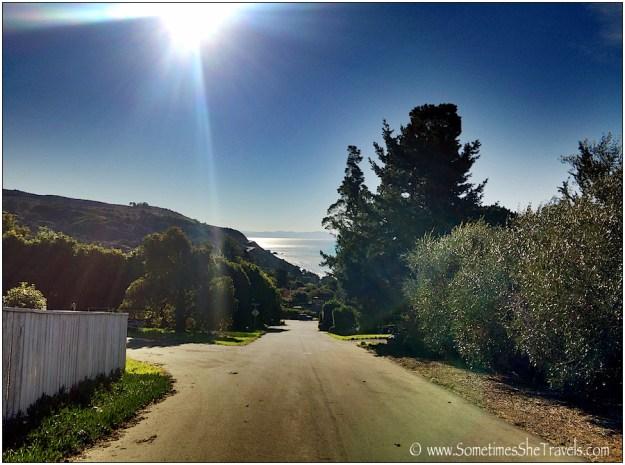 road leading to ocean