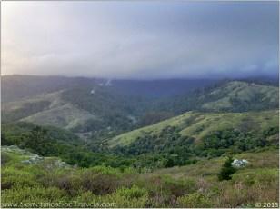 Looking toward cloud-covered Mt. Tamalpais