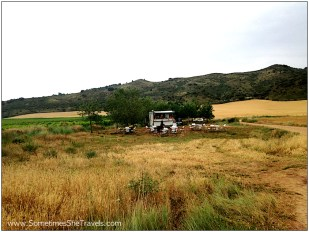 A surprise pop-up café along the edge of the Camino. We decided not to stop.