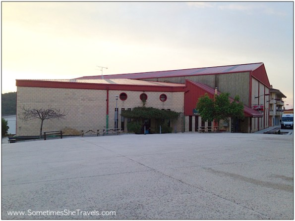This is the sport recreation center at Ayegui, outside Estella, that provides beds to pilgrims in their basement during the summer.