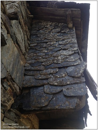The beautiful slate tiles of Foncebadón