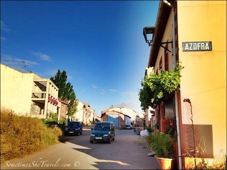 camino de santiago entering azorfa