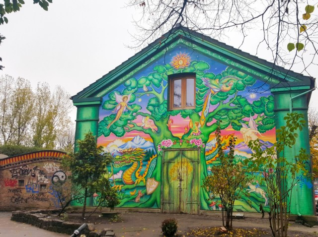 Mural in Freetown Christiania Copenhagen