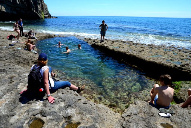 swimming at dancing ledge