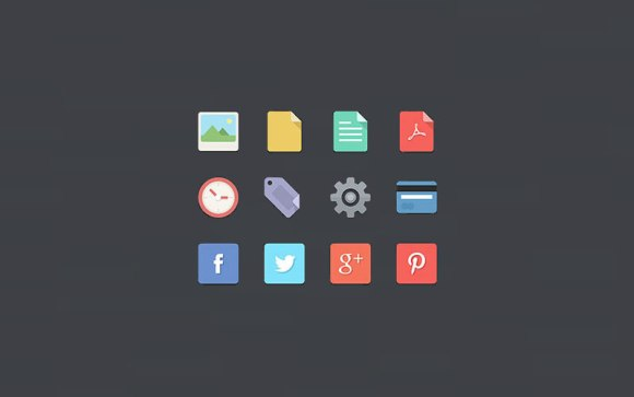 48-Flat-Design-Icons-Set