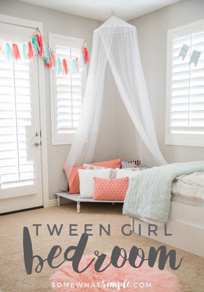 Tween Girl Bedroom  A Space Just For Leah!  Somewhat Simple