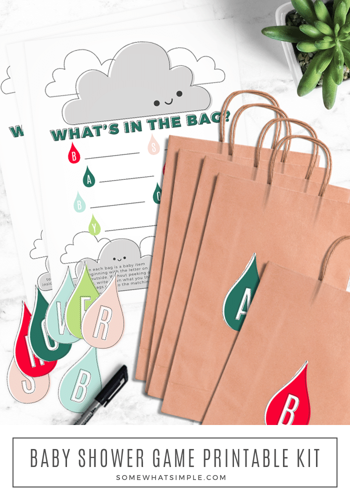 Whats In The Bag Baby Shower : whats, shower, Printable, Shower, (Free), Somewhat, Simple
