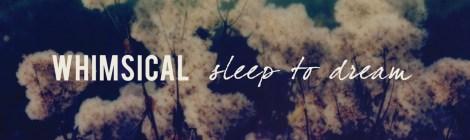 Whimsical: Sleep to Dream (Saint Marie Records, 2017)