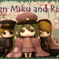 Len Kagamine, Miku Hatsune, and Rin Kagamine Senbonzakura- Taito