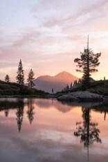 Heart Lake Photography reflection Mount Shasta Pink Sunrise