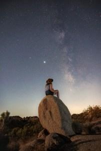 Night sky astro photography in joshua tree national park, california