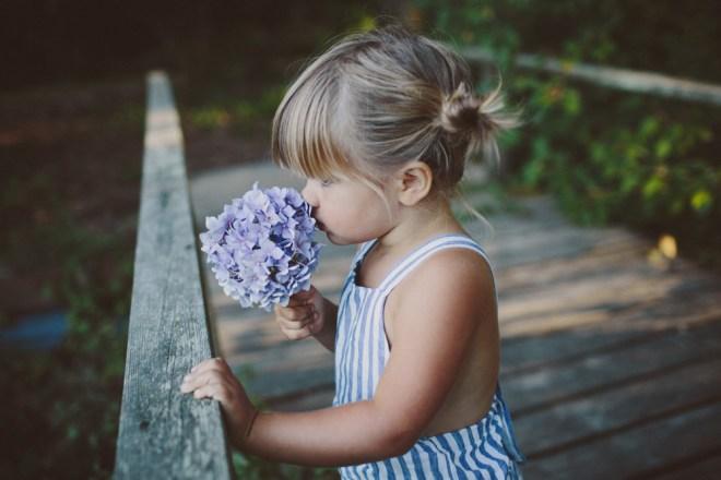 marlow smelling flower